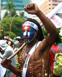 Surfers for West Papua Protestor