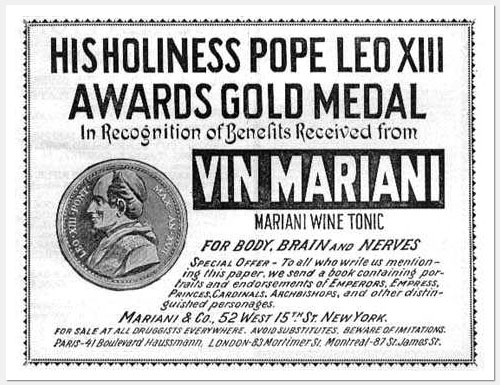 Pope Gold Medal for Coca-Wine