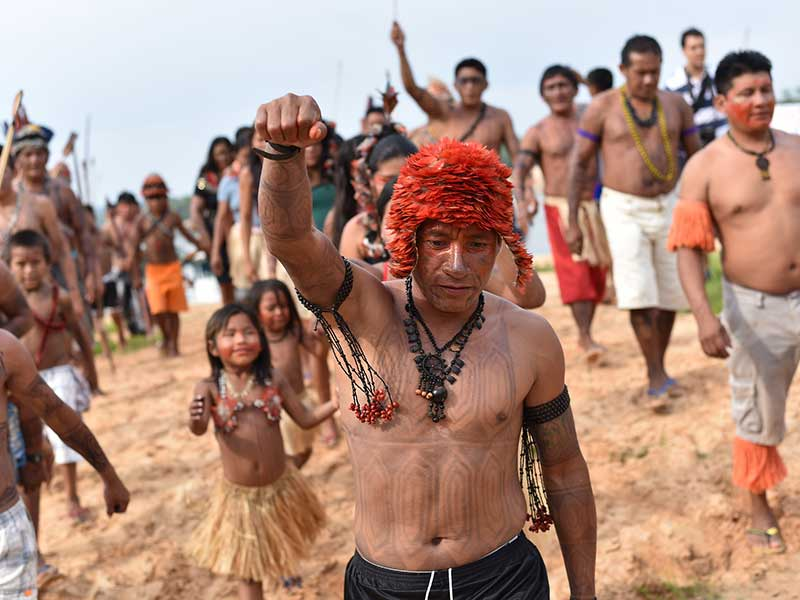 : AMAZONIAN TRIBE SETS THE STAGE WITH A FLAIR FOR THE THEATRICAL :
